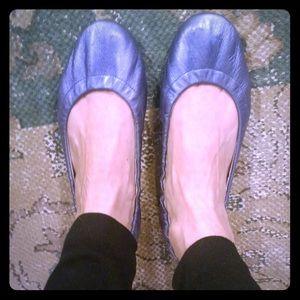 Gap Metallic Blue Vintage Ballet Flats!!